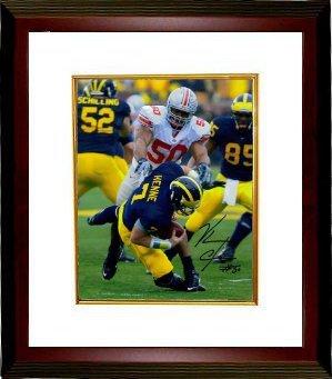 Vernon Gholston Signed Ohio State Buckeyes 16X20 Photo Custom Framed front-604143