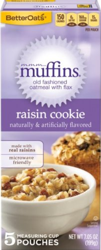 Mmm... Muffins Better Oats Old Fashioned Oatmeal With Flax 5 Pouches Per 7.05 Oz Box (Pack Of 3 Boxes)