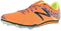 New Balance Men\'s MMD500V3 Middle Distance Spike Running Shoe,Orange/Blue,8 D US