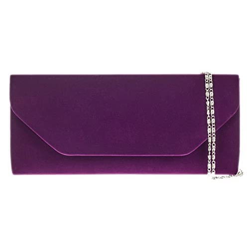 Girly HandBags Ladies Velvet Clutch Bag Simple Handbag Evening Bag Womens Gift