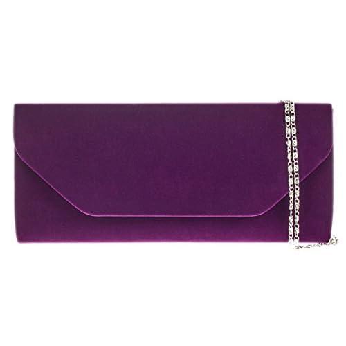 Girly HandBags Ladies Velvet Clutch Bag Simple Handbag Evening Bag Womens Gift
