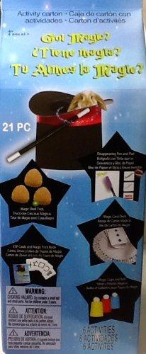 Children's Activity Carton ~ Got MAGIC? ~ 6 Fabulous Magic Tricks ~ Disappearing Pen, Magic Cards, ESP Trick, Shell Trick & More!