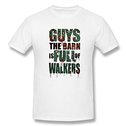 Anskan Men's Guys The Barn Is Full Of Walkers T Shirt XS White