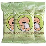 Oral Hygiene Gum Wipes - Tooth Tissues - Dental Wipes for Baby and Toddler Teeth and Gums (3 Packs of 30 Wipes)