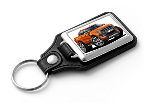 wicked-artz-cartoon-car-ford-ranger-t6-wildtrak-2015-double-cab-pick-up-classic-style-key-ring-orang