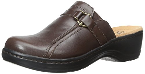 Clarks Women's Hayla Marina Mule, Brown Leather, 7.5 M US