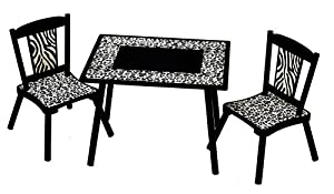 Levels Of Discovery Wild Side Table And 2 Chair Set Blackivory by Levels of Discovery