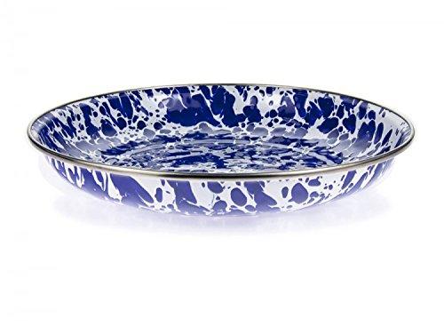 Golden Rabbit Cobalt Blue Swirl Deep Pasta Plate (Rabbit Pasta compare prices)