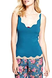 Limited Collection Floral Lace Vest with Secret Support [T37-9162-S]
