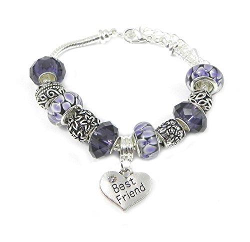Best Friends Purple Charm Bracelet Women's Pandora