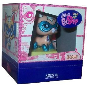 Picture of Hasbro Littlest Pet Shop 2009 SDCC San Diego Comic-Con Exclusive Figure Super Hero Kitty Cat (B002IVGK1M) (Hasbro Action Figures)