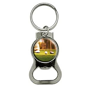 graphics and more golf ball club golfing bottle cap opener keychain kb0770 bags. Black Bedroom Furniture Sets. Home Design Ideas