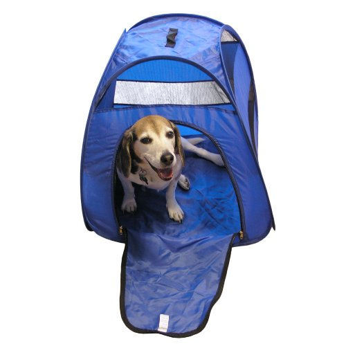 Portable Pop Up Pet Tent - Perfect For Camping & Travel - Blue (Small)