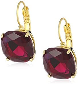 "kate spade new york ""Essentials"" Ruby Small Square Lever Backs Earrings"