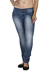 Soie Women's Slim Fit Jeans (D-05_Blue_30)