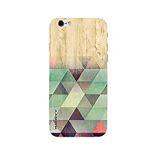 RICKYY _ip6_1123 Printed matte designer Color full Triangle wood case for Apple iPhone 6
