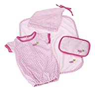 JC Toys Pink Sleep Sack Set (4-Piece)