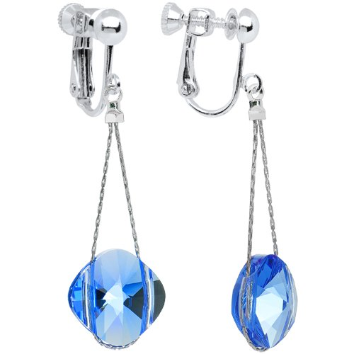 My Blue Heaven Clip On Earrings MADE WITH SWAROVSKI ELEMENTS