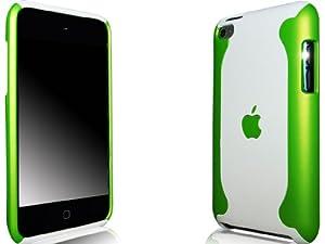 """Novo iPod Touch 4, 4G Hard Case """"Flux"""" Grün und Weiß Hülle Taschen und Free Screen Guard"""
