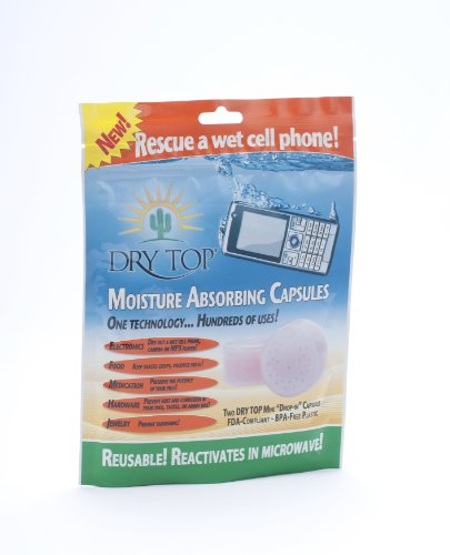 """""""Rescue A Wet Cell Phone Kit"""" Dry Top Reusable Silica Gel / Desiccant Capsules"""