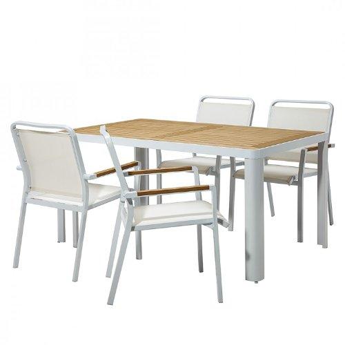 Essgruppe Garten Aluminium Wei Braun Gartenst Hle Tisch
