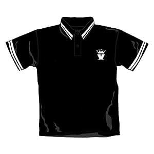Madness Polo Shirt M Crown Logo Black Polo White Trim
