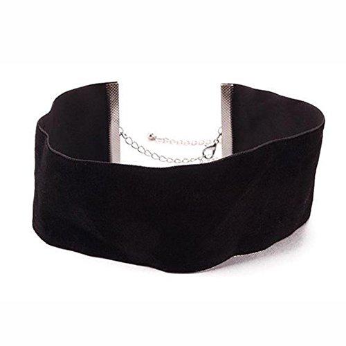 chicmall-nice-black-plain-velvet-ribbon-wide-make-choker-necklace-gothic-handmade-jewelry