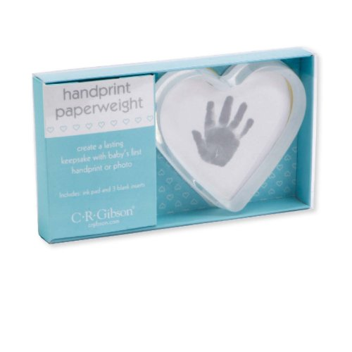 C.R. Gibson Heart Handprint Paperweight Kit
