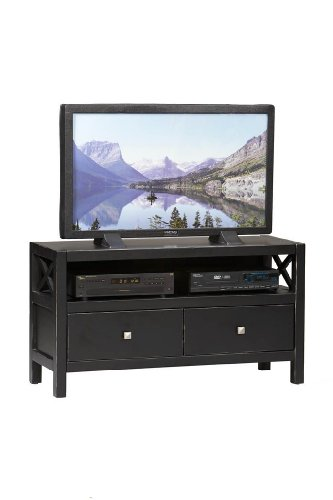 Cheap Linon Anna Collection TV Stand in Antique Black Finish (B0076QK33A)