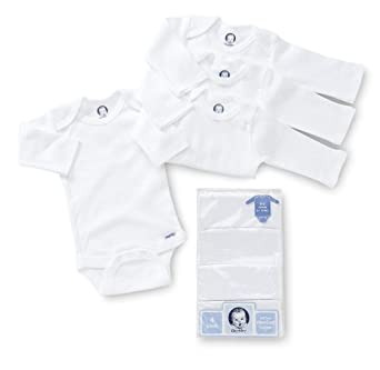Gerber 3 Pack Long Sleeve Onesies One Piece Snap White Size 24 Month