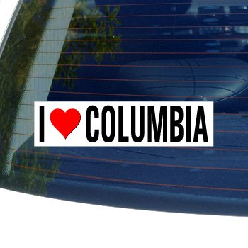 I Love Columbia Bumper Sticker