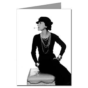 Gabrielle Coco Chanel wearing an LBD Note card Set