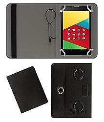 Acm Portable 360° Rotating Music Speaker & Leather Flip Cover For Mercury Mstar 830g Tablet Rotate Case Holder Cover Stand - Black