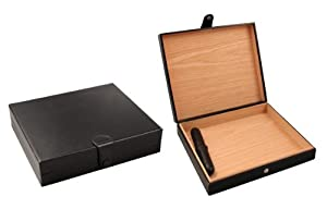 "Visol Products VHUD401 ""Zino"" Travel Humidor, Holds 16 Cigars, Black Leather"