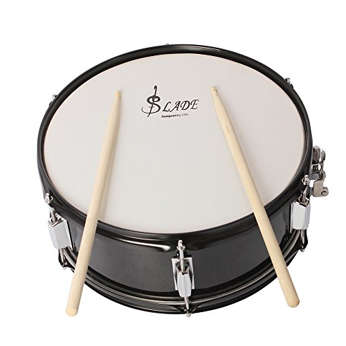 ammoon-professional-snare-drum-head-14-inch-with-drumstick-drum-key-strap-for-student-band