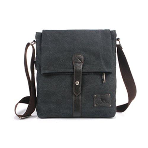 Black Messenger Bag for Men