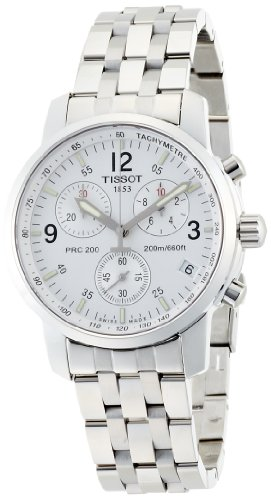 Tissot Men's T-Sport T17.1.586.32 Silver Stainless-Steel Swiss Quartz Watch with White Dial