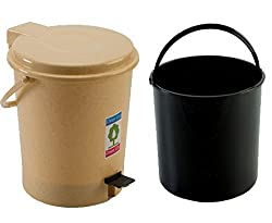 PEDAL BINS WITH INNER (6LTR) (RED COLOR )