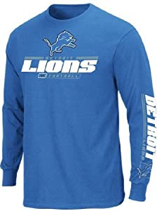 Detroit Lions Mens Long Sleeve Majestic Tee Shirt by VF