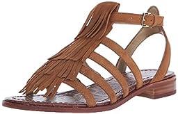 Sam Edelman Women\'s Estelle Flat Sandal, Saddle, 9.5 M US