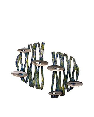 C'Jere By Artisan House Indigo Set Of 2 Wall Sculpture