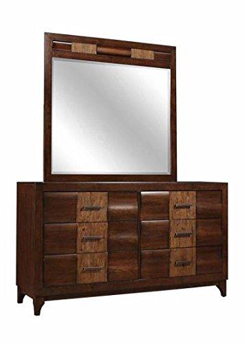 Dresser in Brown Oak Dark Forest Finish by Coaster Furniture
