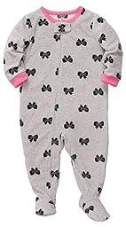 Carter\'s Baby-Girls Infant Microfleece Sleep and Play Grey Bows