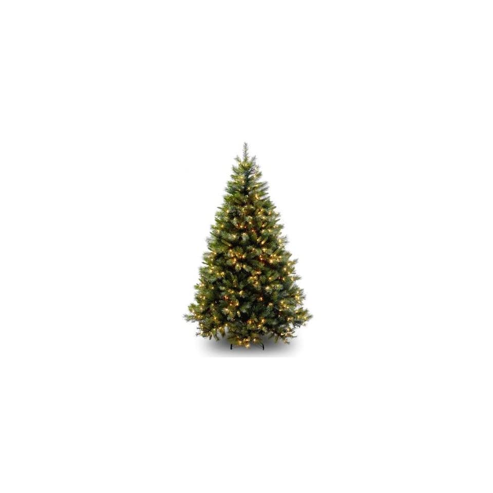 National Tree Company WCH3 302 75 7.5 Foot Winchester Pine Hinged Tree with 650 Clear Lights