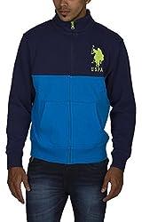 US POLO ASSOCIATION Men's Fleece Sweater (USSS0182_Blue_Medium)