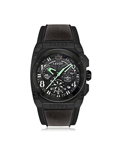 Savoy Men's Midway Black Silicone Watch