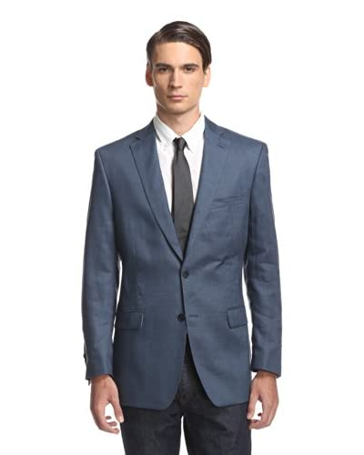 Calvin Klein Men's Malik Linen Notch Lapel Solid Sportcoat
