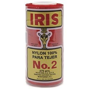 Iris Nylon Crochet Thread, 275-Yard, Red