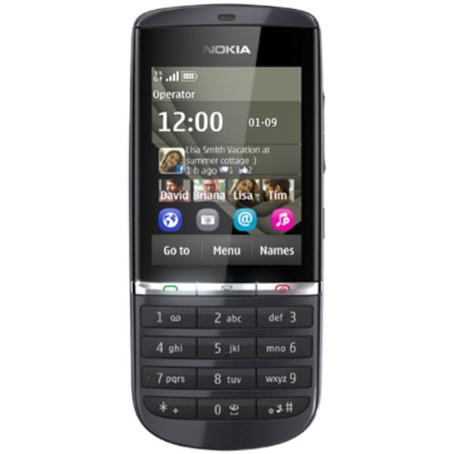 Link to Nokia Asha 300 Unlocked GSM Symbian Qwerty touch screen –International Version, no Warranty (Grey) Big SALE