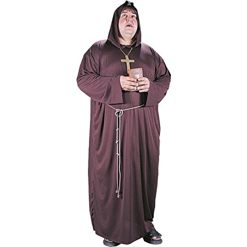[Monk Plus Size Costume-] (Plus Size Hooded Monk Robe Costumes)